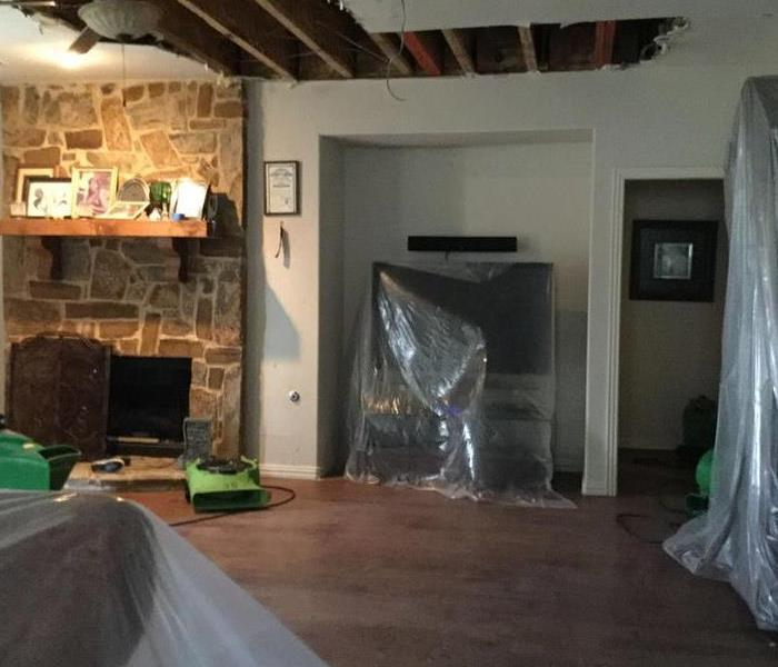 Water Damage in Attic After