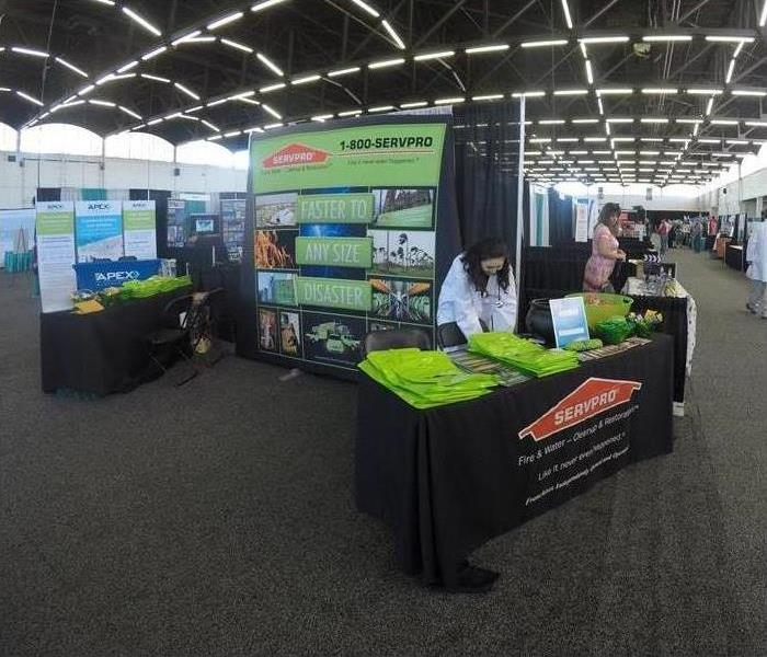 SERVPRO table set up at conference